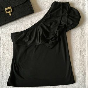 Robert Rodriguez One Shoulder Ruffle Top